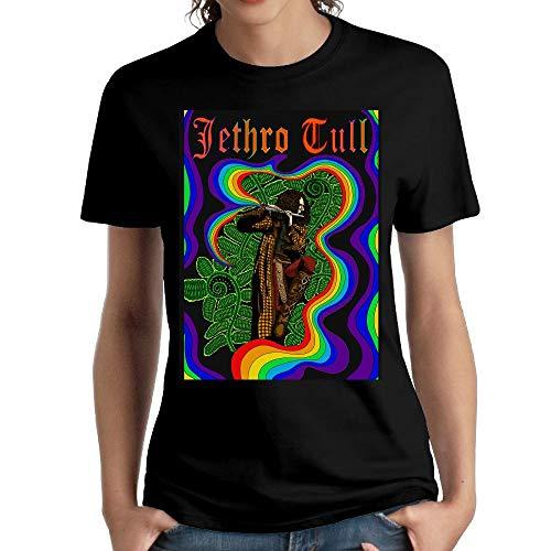 JeffryG Women's Jethro Tull Short Sleeve T Shirt Black S