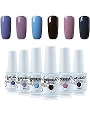 Vishine 6Pcs Soak Off LED UV Gel Nail Polish Varnish Nail Art Starter Kit Beauty Manicure Collection Set C010