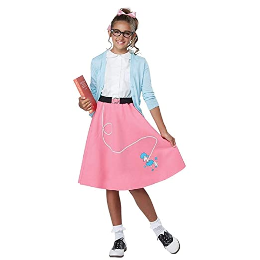 ce4e77865f7c Amazon.com: Girls 50's Pink Poodle Skirt Costume: Toys & Games