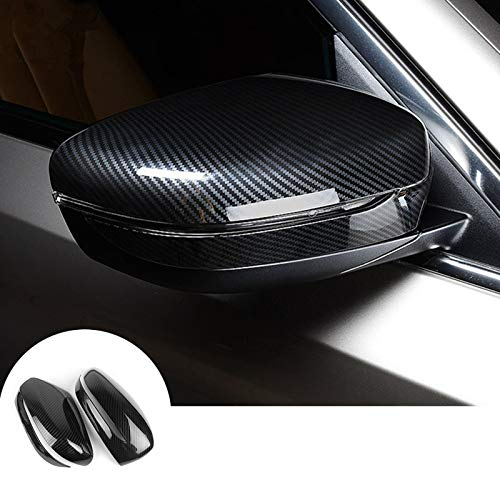 HOTRIMWORLD ABS Carbon Fiber Style Rearview Mirror Frame Trim Cover 2pcs for BMW 7 Series G11 G12 2016-2019