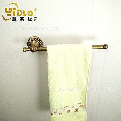 Accesorios de Baño MoomQe fácilmente para montar una buena decoración efecto palanca única de antigüedades de toallas toallas talladas, toallero: Amazon.es: ...
