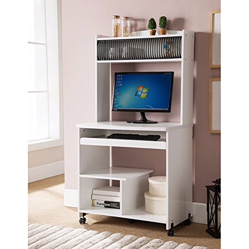 Benzara BM148861 Well Designed Computer Cart with Efficient Storage by Benzara