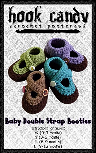 32917fa582c3a Amazon.com: Baby Double Strap Booties: Hook Candy Crochet Patterns ...