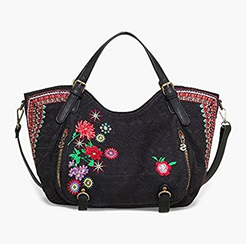 flores Femme noir mex bandouliere a rotterdam sac DESIGUAL O1RqZn77