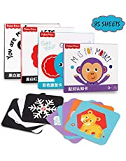 Flash Cards for Toddlers 0-4 Years Old Toddler Learning Toys Early Education Card 4 Sets of Staged Learning Cards, Color, Pairing Awareness Visual Stimulation Tool Baby Flash Cards Girls Boys