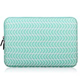 11-12 Inch (Black, Green, Grey, Blue, Purple, Chevron, Pink) Laptop Sleeve, Zikee Water Resistant Thickest Protective Slim Laptop Case