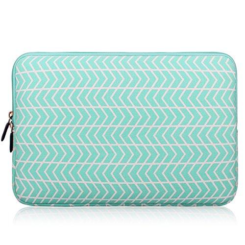 15-15.6 Inch (Black, Green, Grey, Blue, Purple, Chevron, Pink) Laptop Sleeve, Zikee Water Resistant Thickest Protective Slim Laptop