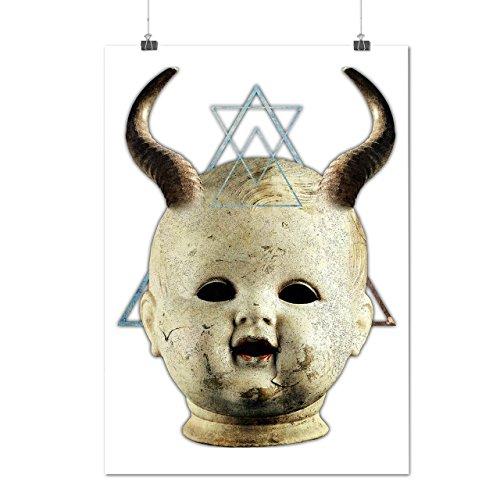 Prince Of Darkness Devil Costumes (Devil Goth Satan Horror Dark Prince Matte/Glossy Poster A2 (60cm x 42cm) | Wellcoda)