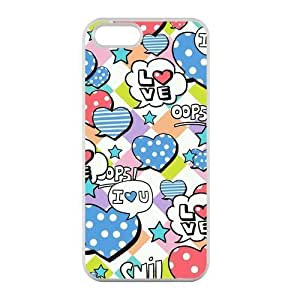Welcome!Iphone 5/5S Cases-Brand New Design Cute Unique Graffiti Printed High Quality TPU For Iphone 5/5S 4 Inch -02
