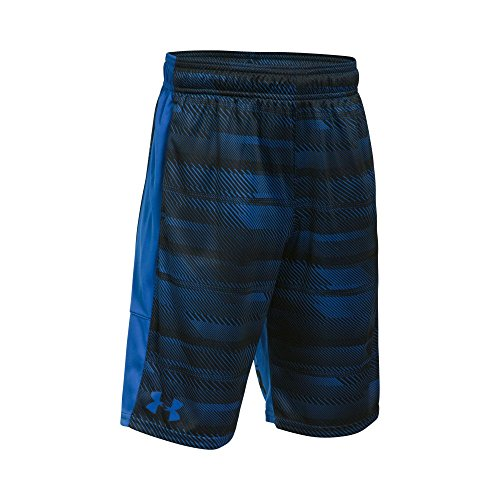 Under Armour Boys' Instinct Printed Shorts, Ultra Blue/Ultra Blue, Youth Large