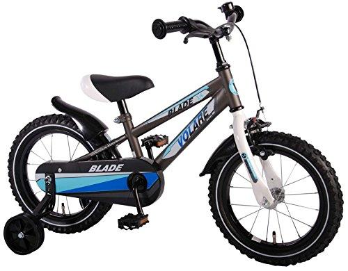 14 Zoll Volare Blade Kinderfahrrad Jungen Fahrrad anthrazit mit