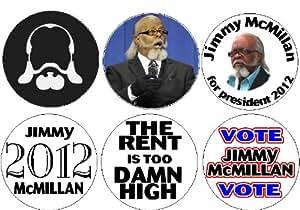"Set of 6 JIMMY McMILLAN Mini 1.25"" Magnets ~ President 2012"