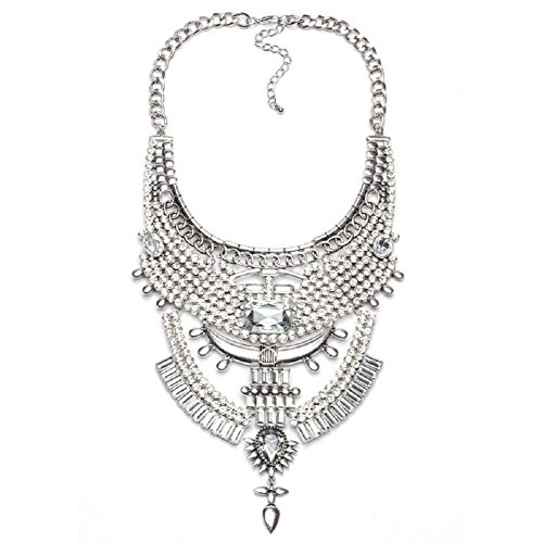 Stuffwholesale Chunky Turkish Bib Statement Necklace Marquise Pendant Choker Women Necklace Jewelry ()