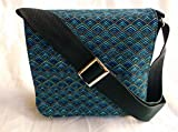 New Chevron Blue Messenger Bag By Gifts and Beads