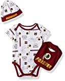 Gerber Childrenswear NFL Washington Redskins Boys Bodysuit Bib & Cap Set, 3-6 Months, Red