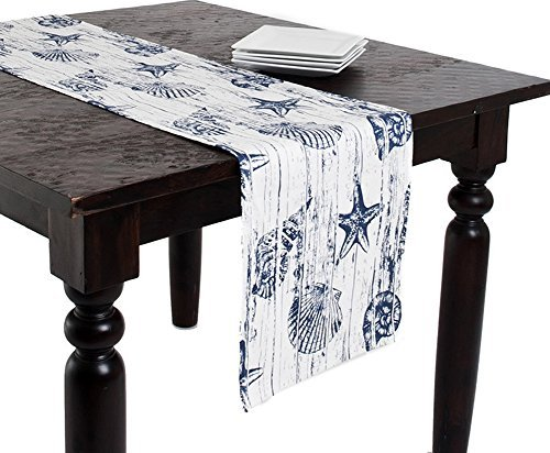 Color Story Kitchen Island - Captiva Island Nautical Table Runner, 14