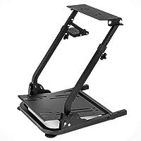 BTdahong - Supporto per volante G29 G27 G25, pieghevole, in acciaio, per giochi di corsa, regolabile in altezza, per giochi di corsa su PC e console di gioco, colore nero