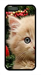 iPhone 5 5s Case, Slim Thin Shockproof Curious Christmas Cat Creativity IP5 Case fit for iPhone 5 5s Ultra Protective Back Rubber Cover Impact Protection for iPhone 5 5s (Black) by mcsharksby Maris's Diary