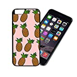 [TeleSkins] - Baby Pink Pineapple Cute Hipster - iPhone 6 6S Plastic Case - Ultra Durable HARD PLASTIC Highly Protective Vibrant Snap On Designer Back Case / Cover for Girls. [Fits iPhone 6 & 6S]