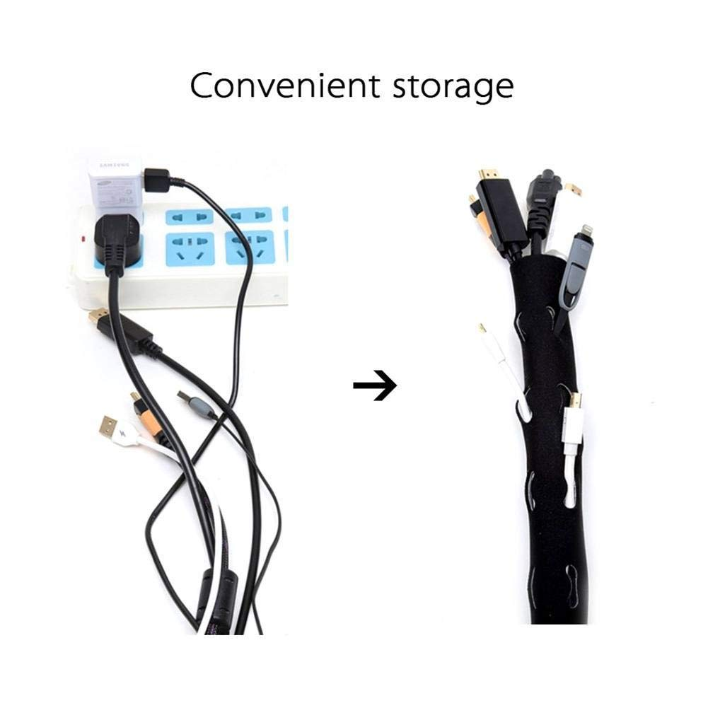 Cord Management System for TV//Computer//Home Entertainment Waterproof,Thoughtful Hole Design Ruibuy Cable Management Sleeve