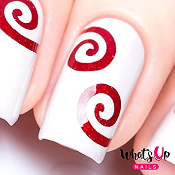 Amazon Whats Up Nails Swirl Nail Stencils Stickers Vinyls