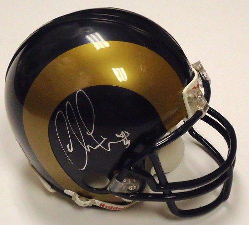CHRIS LONG signed *ST LOUIS RAMS* mini football helmet ()