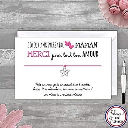 Carte De Voeux Joyeux Anniversaire Maman Bracelet Porte