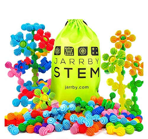 Jarrby STEM Flowers Educational Therapy Toys - Great Building Toys STEM JR / STEAM Interlocking Preschool Learning Toys