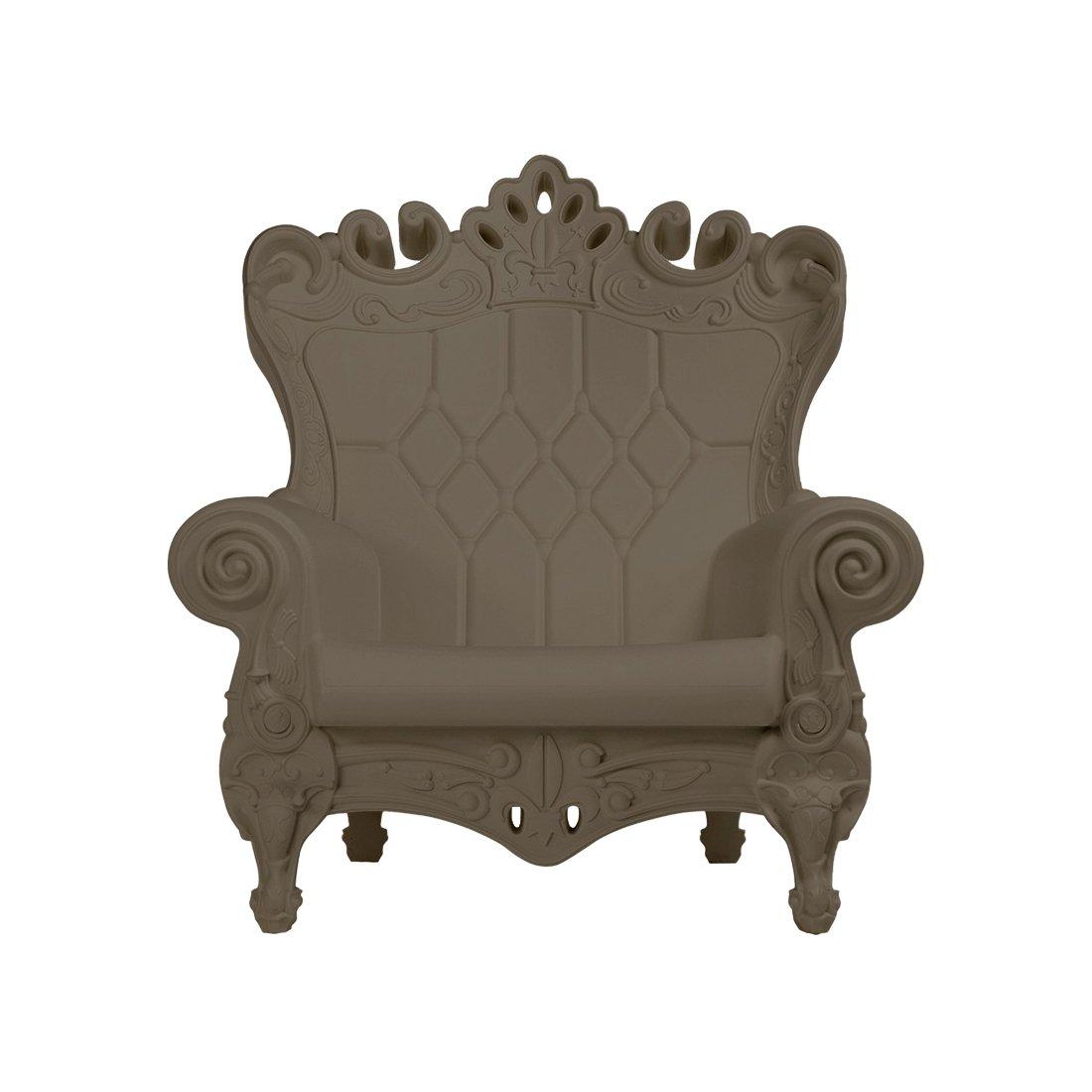 Design of Love - Slide Design - Little Queen of Love Baby armchair Argil grey (Original made in Italy)