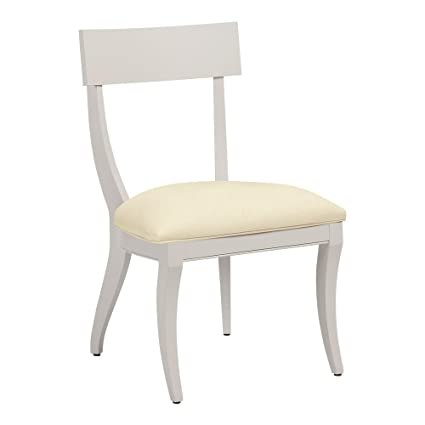 Ethan Allen Klismos Side Chair, Ascot, Cayman Cream