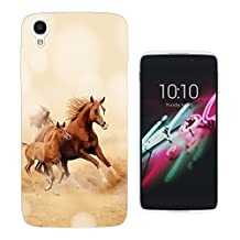 003513 - Cool Galloping Horses Design ALCATEL ONE TOUCH IDOL 3 (4.7'') Fashion Trend CASE Gel Silicone All Edges Protection Case Cover