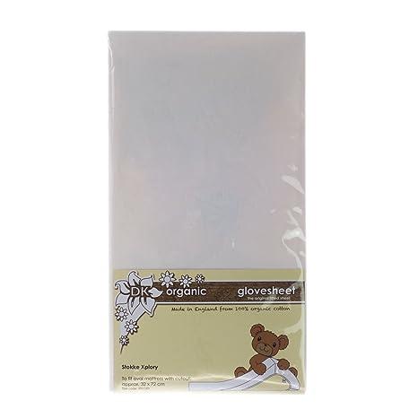 DK Glovesheets – Sábana bajera sábana bajera para Stokke Xplory (orgánico), color blanco