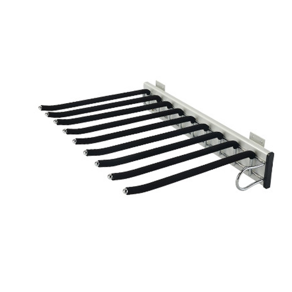 Sliding Stainless Steel Trousers Rack 9 Arms,Closet Pants Hanger Bar for Clothes/Towel/Scarf/Trousers/Tie, Organizers for Space Saving and Storage,18'' x 12-1/2''