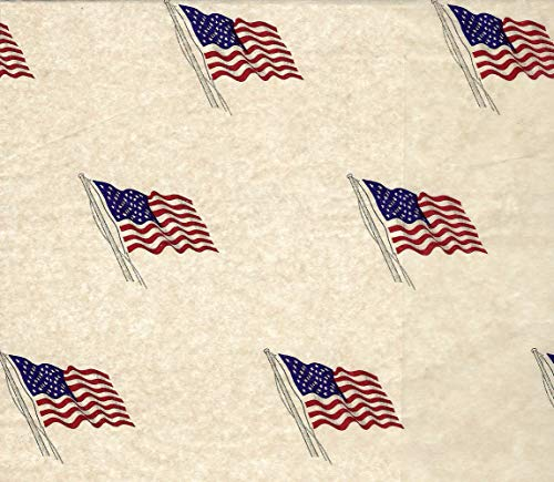 (United States Flag Tissue Paper # 553~10 Large Sheets)