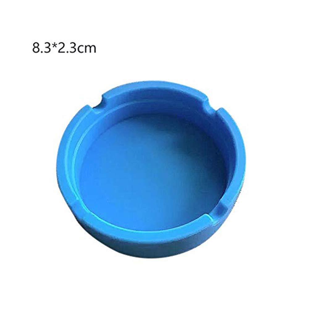 Dpolrs Bendable Portatile Posacenere Tondo Eco-Friendly Colorfull Premium Gomma di Silicone ad Alta Temperatura Senza Fumo