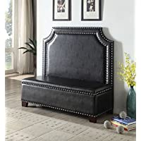 ACME Fadey Espresso Faux Leather Settee with Storage