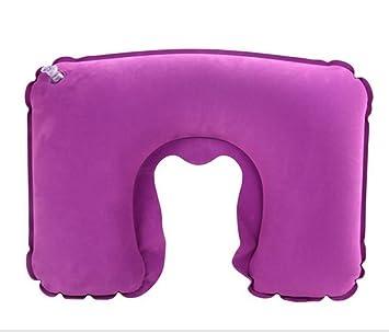 Amazon.com: Aire inflable Forma de U cuello almohada de ...