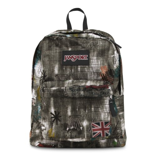 JanSport Black Label Superbreak Backpack Grey Grunge Denim T