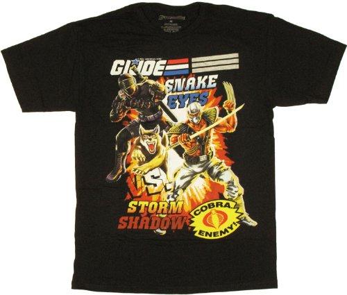 (Good N Bad G.I. Joe Storm Shadow Snakeyes T-shirt (Extra Large))