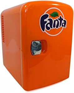 Coca-Cola FA04 6 Can AC/DC Electric Cooler by Koolatron (4.2 Quarts/4 Liters), Orange