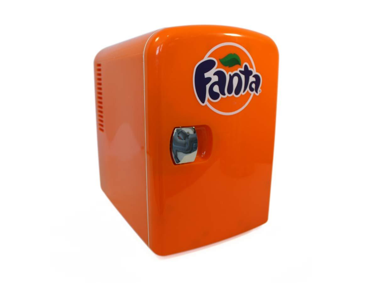 Fanta FA04 Personal Cooler. 12 Volt & 110V DC for Your Home, 6 can Orange