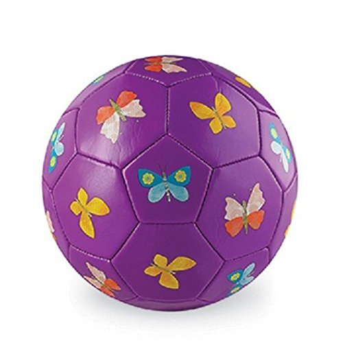 Crocodile Creek Butterflies Purple Kids Soccer Ball Size 3/7 inches Toy by Crocodile Creek