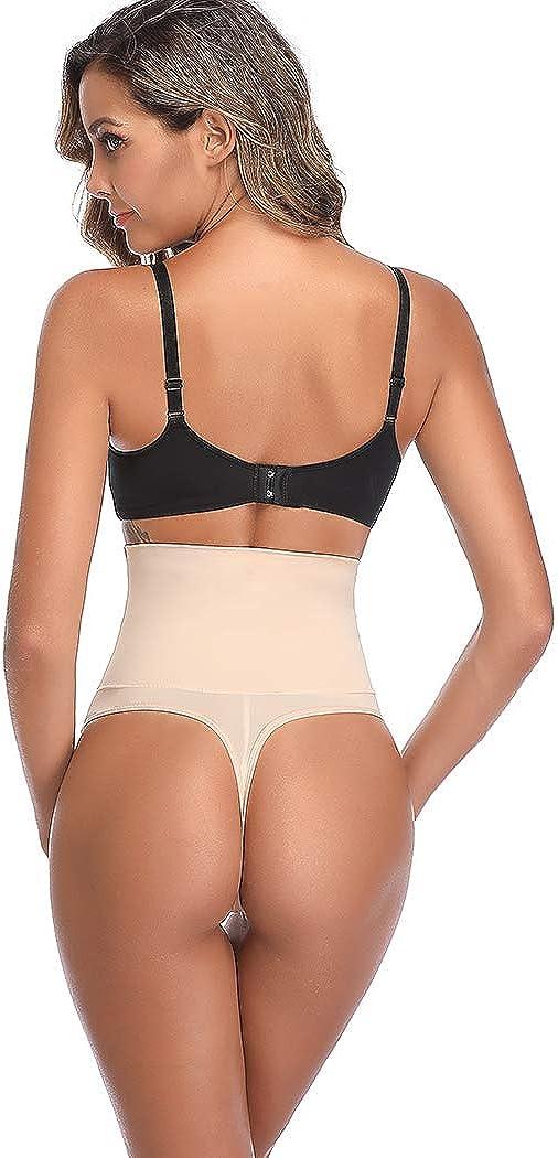 Joyshaper Women Tummy Control Thong Body Shaper Knickers Underwear High Waist Shaping Control Thong Briefs Butt Lifter Panties