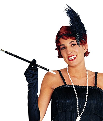 Costume Culture Women's Charleston Flapper Beaded Headpiece, Black, One (Charleston Black Flapper Costumes)