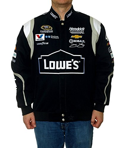 2015 Jimmie Johnson Lowes Nascar Jacket Black (Jimmie Johnson Nascar Jackets)