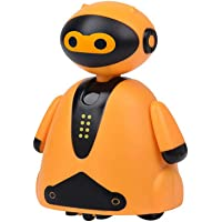 guoYL26sx Toys Creative LED Light Induction Follow Pen Line Lovely Walking Robot Kids Toy - Orange