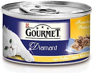 Purina Gourmet Diamant Finas Lonchas comida para gatos Carnes ...