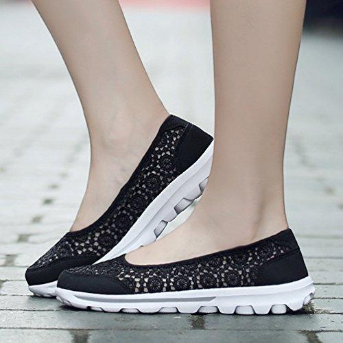 Sneakers Baskets De Filet Chaussures Noir Mode Respirant Running Femmes Antidérapantes 35 41 Confortable Jrenok qT6A1