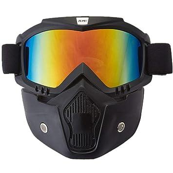 Ilm motocicleta casco máscara de gafas de equitación con extraíble se adapta para Powersports para Airsoft