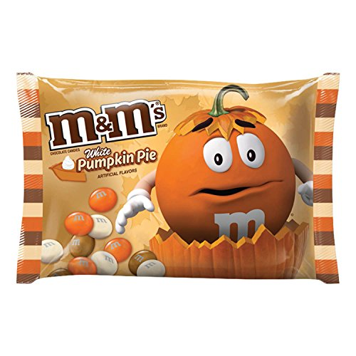M&M'S White Chocolate Pumpkin Pie Halloween Candy 8-Ounce Bag